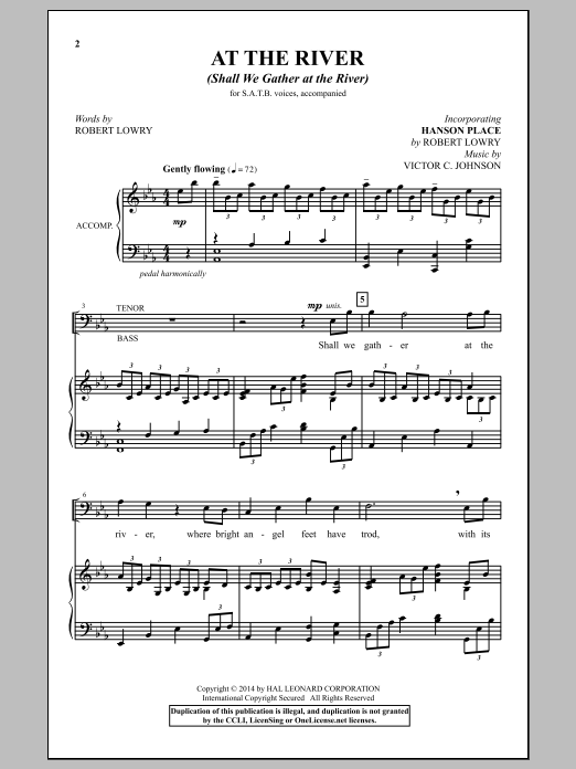 Partition chorale At The River (Shall We Gather At The River) de  - SATB