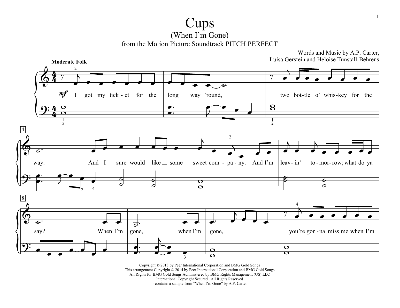 partition guitare cups anna kendrick