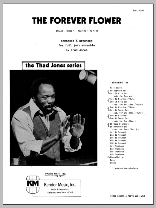The Forever Flower (COMPLETE) sheet music for jazz band by Thad Jones