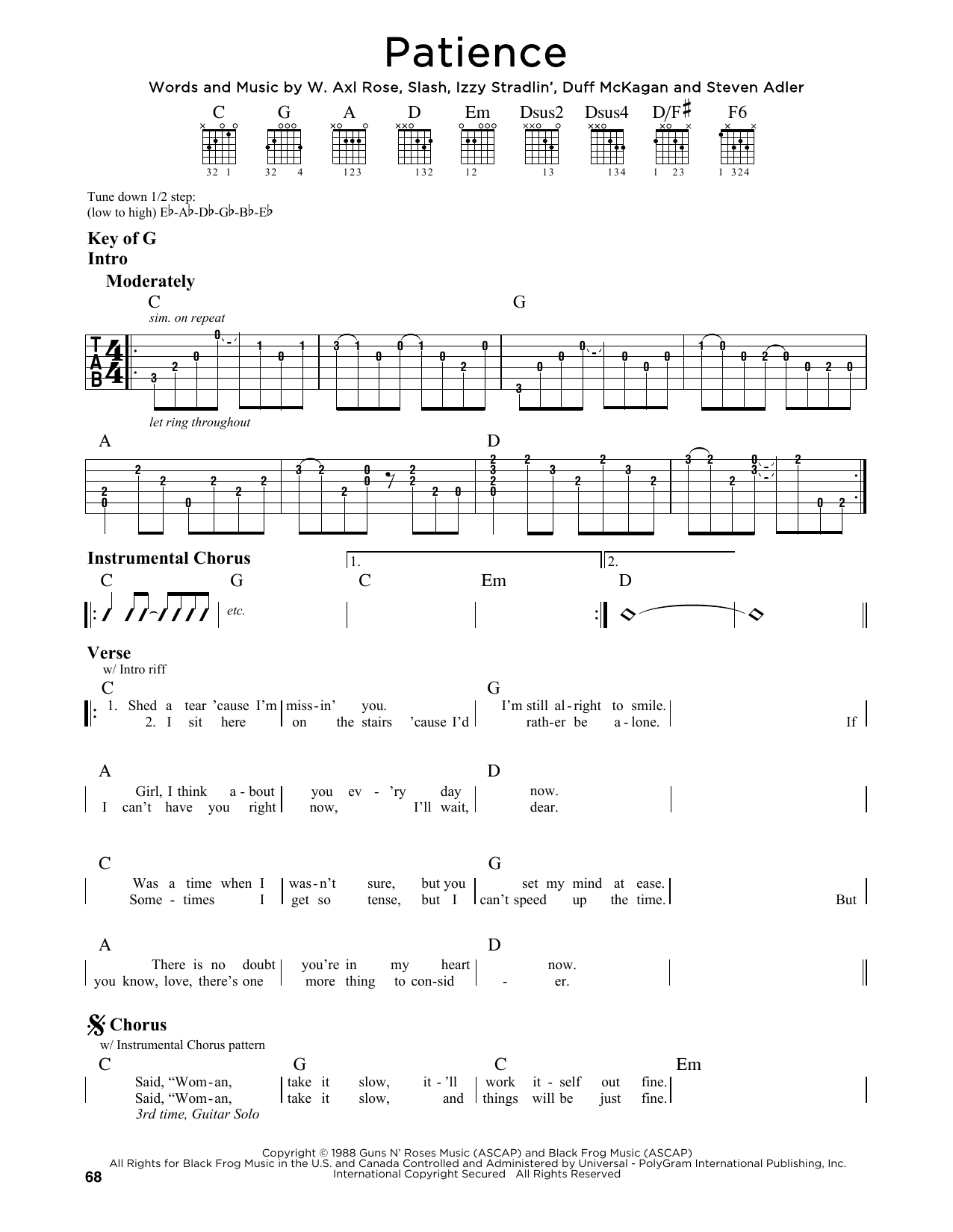 Sheet Music Digital Files To Print Licensed Guns N Roses Digital