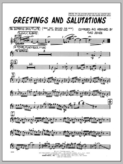 Greetings and salutations greetings and salutations bb soprano sax m4hsunfo