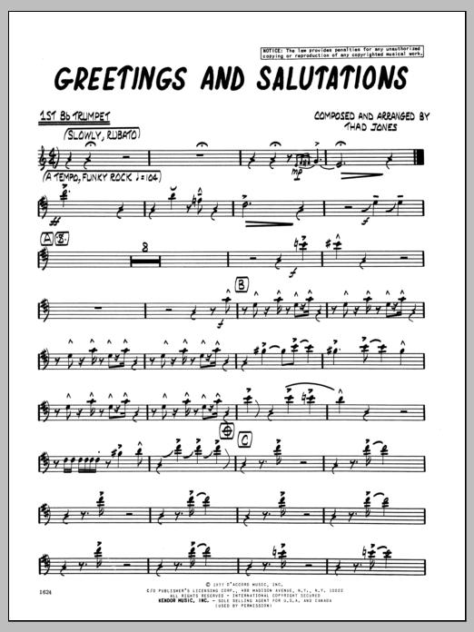 Greetings and salutations greetings and salutations 1st bb trumpet m4hsunfo