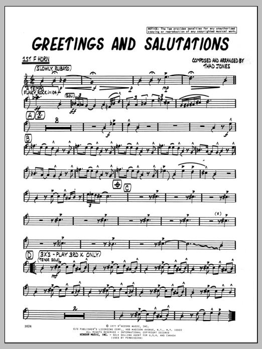 Greetings and salutations greetings and salutations 1st f horn m4hsunfo