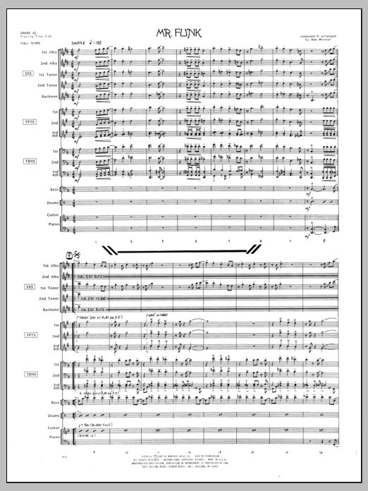 Mr. Funk (COMPLETE) sheet music for jazz band by Bob Mintzer