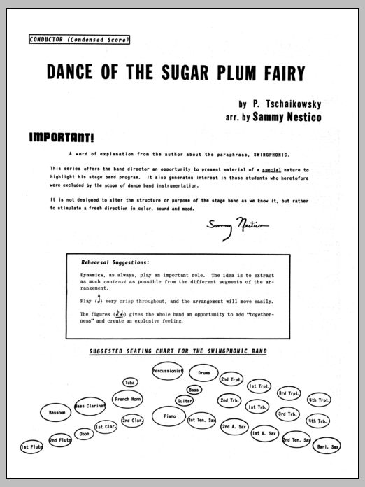 Dance Of The Sugar Plum Fairy (COMPLETE) sheet music for jazz band by Sammy Nestico