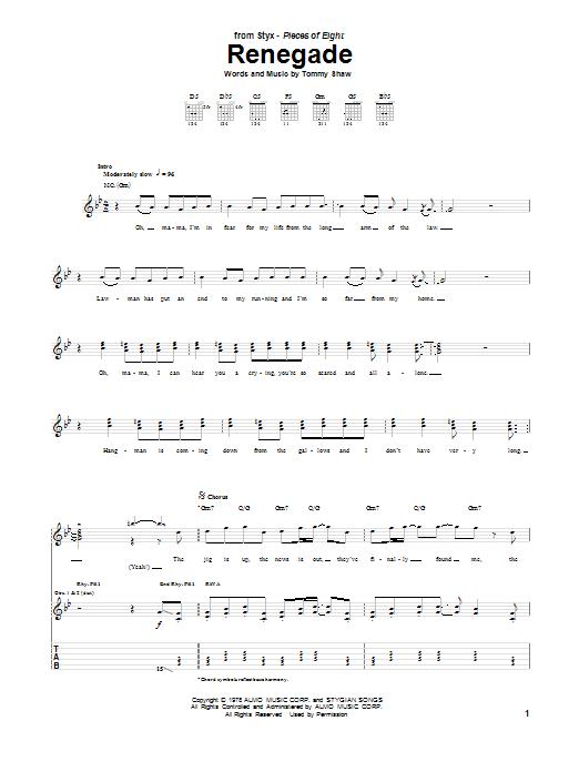 Sheet Music Digital Files To Print Licensed Styx Digital Sheet Music