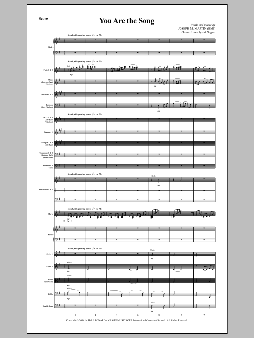 You Are the Song (COMPLETE) sheet music for orchestra/band by Joseph M. Martin