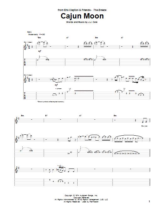 Sheet Music Digital Files To Print Licensed Jj Cale Digital