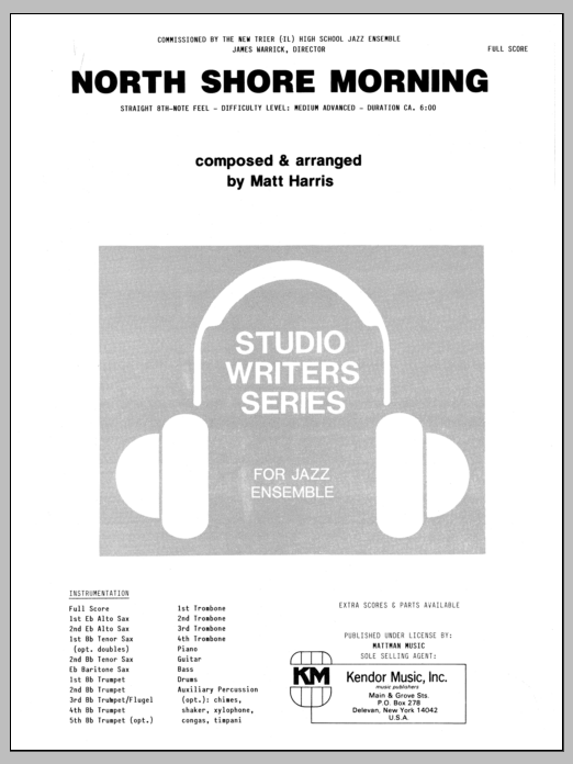 North Shore Morning (COMPLETE) sheet music for jazz band by Matt Harris