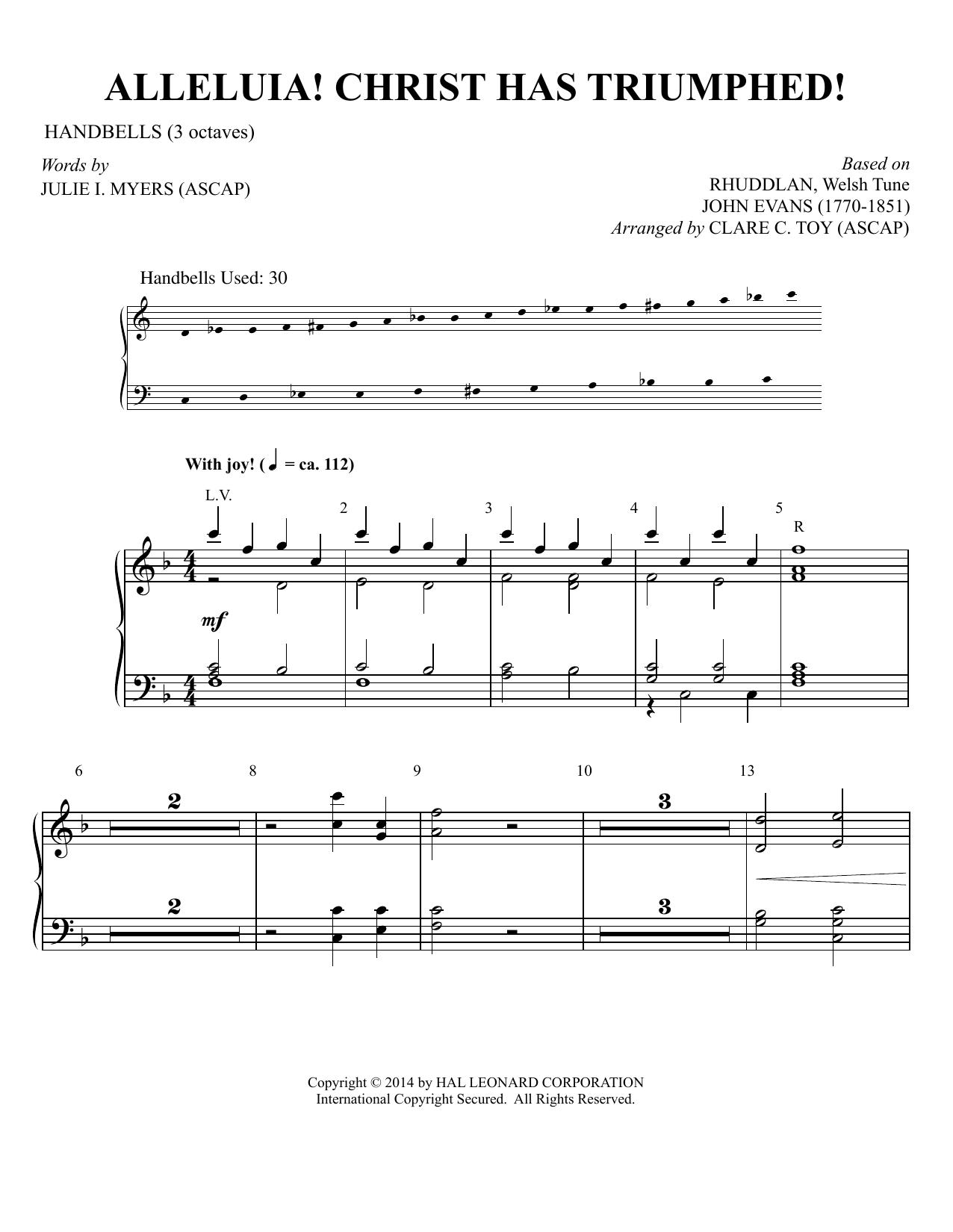 Partition autre Alleluia! Christ Has Triumphed! (arr. Clare C. Toy) de Traditional - Percussions