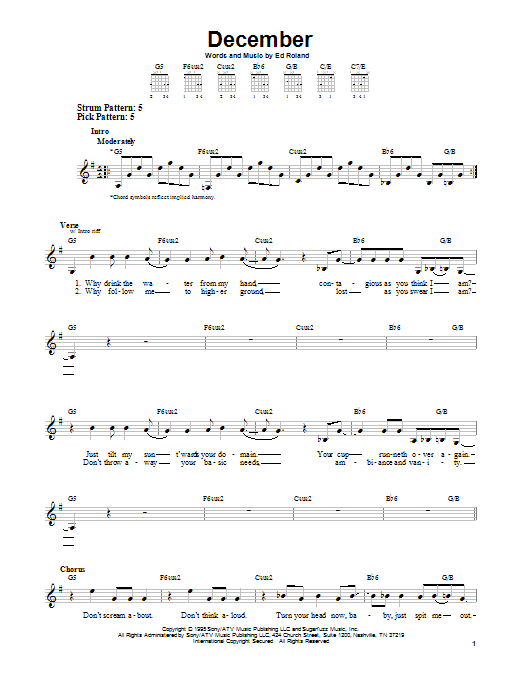 Sheet Music Digital Files To Print - Licensed Collective Soul ...