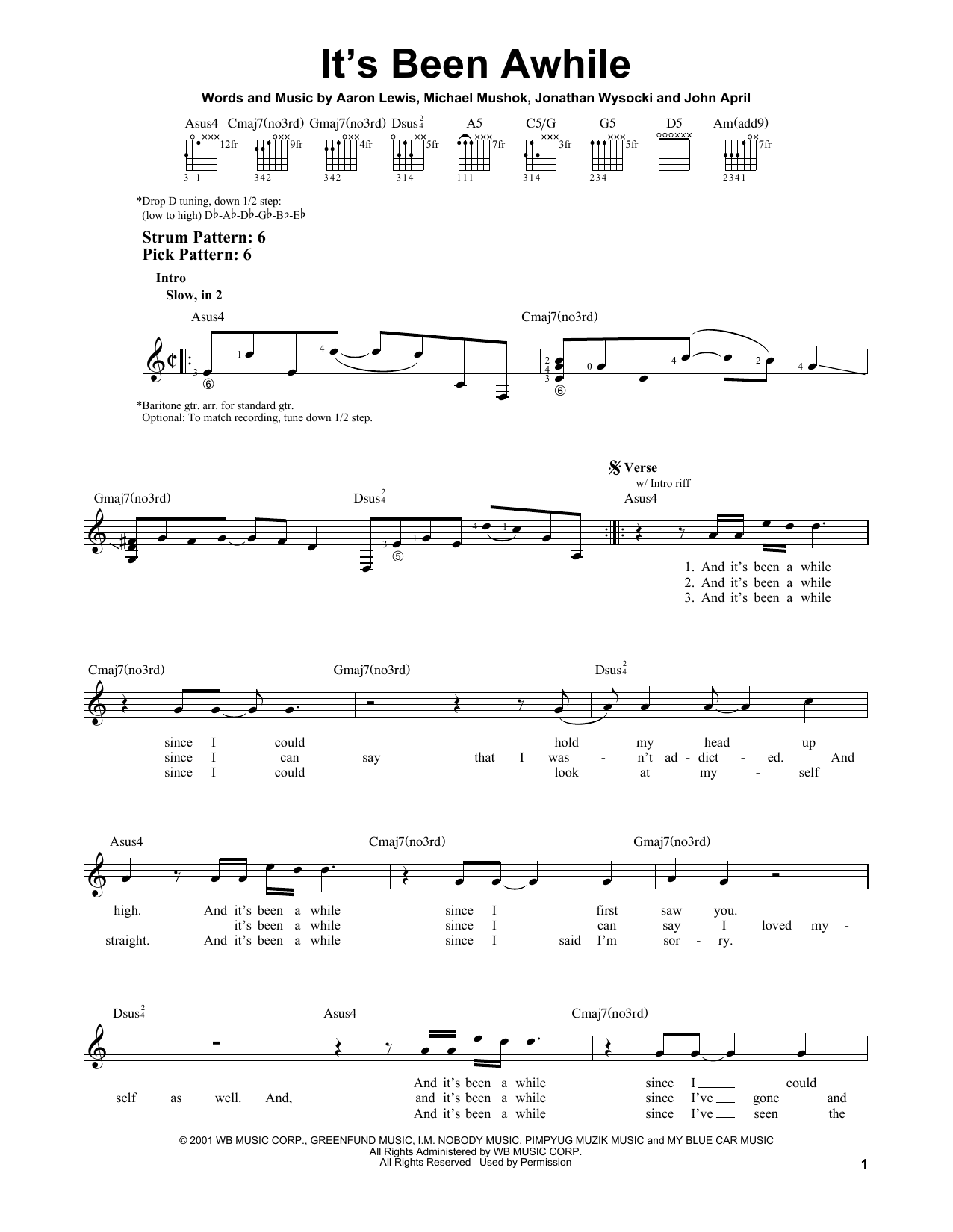 Sheet music digital files to print licensed easy guitar digital its been awhile hexwebz Choice Image