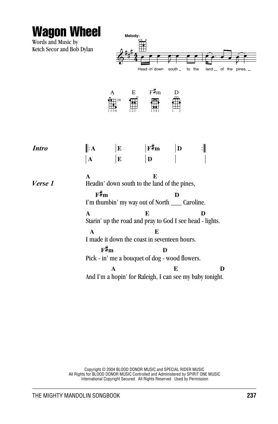 Wagon Wheel : Sheet Music Direct