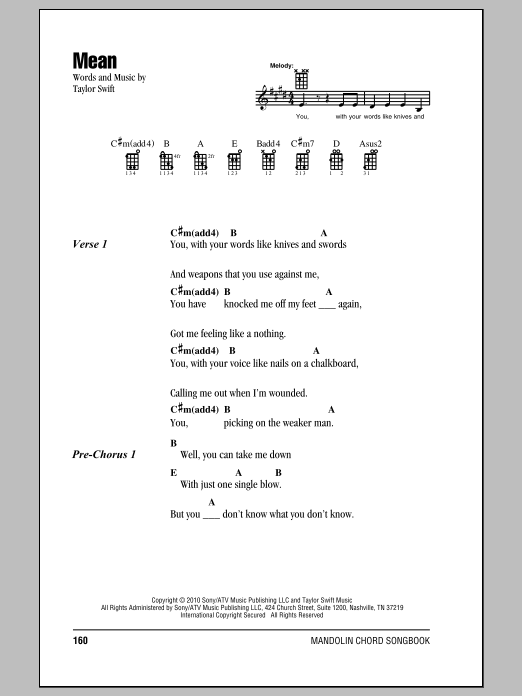 Sheet Music Digital Files To Print - Licensed Mandolin Chords/Lyrics ...