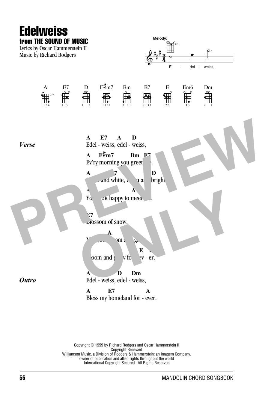 Tablature guitare Edelweiss de Rodgers & Hammerstein - Autre