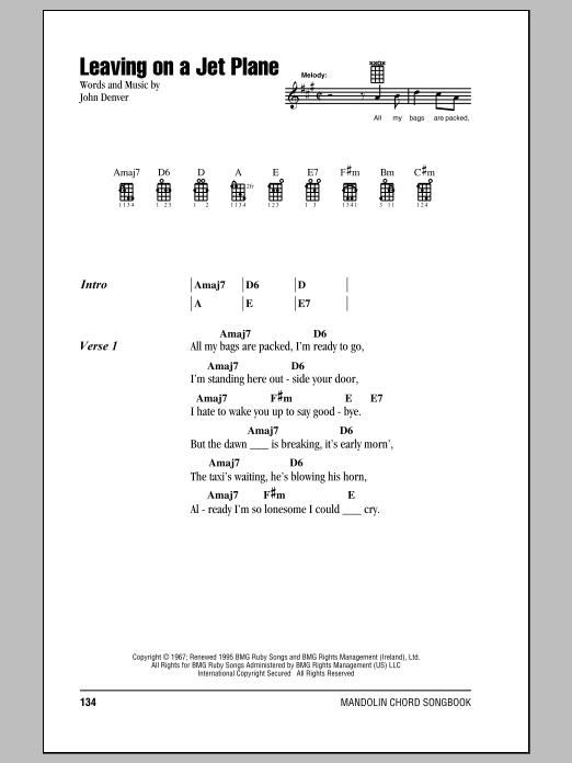 Sheet Music Digital Files To Print - Licensed John Denver Digital ...