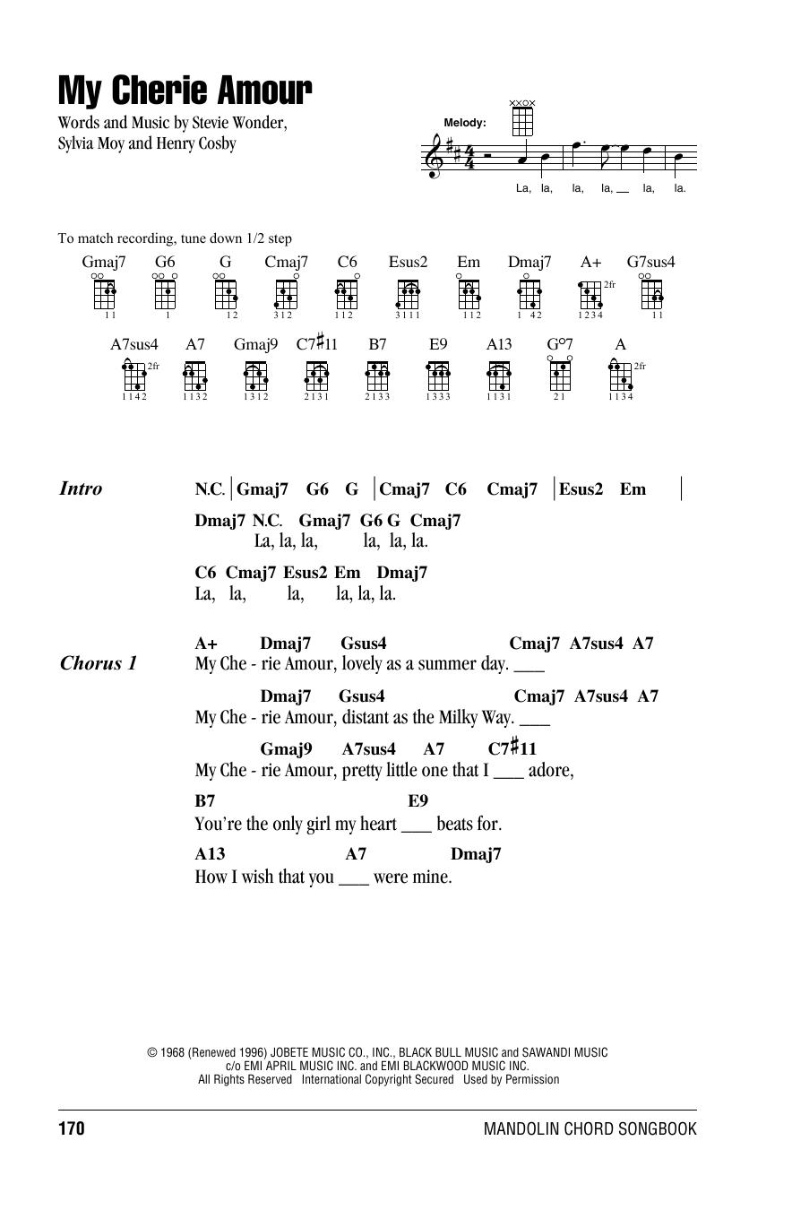 Tablature guitare My Cherie Amour de Stevie Wonder - Autre