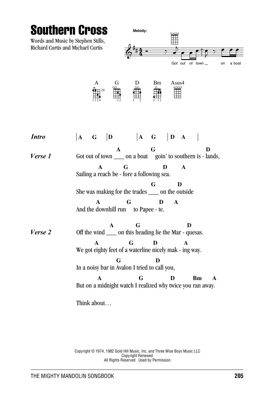 Tablature guitare Southern Cross de Crosby, Stills & Nash - Autre