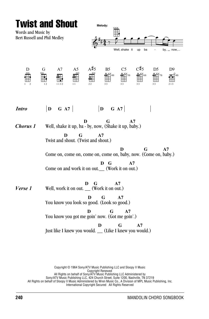 Partition autre Twist And Shout de The Beatles - Autre