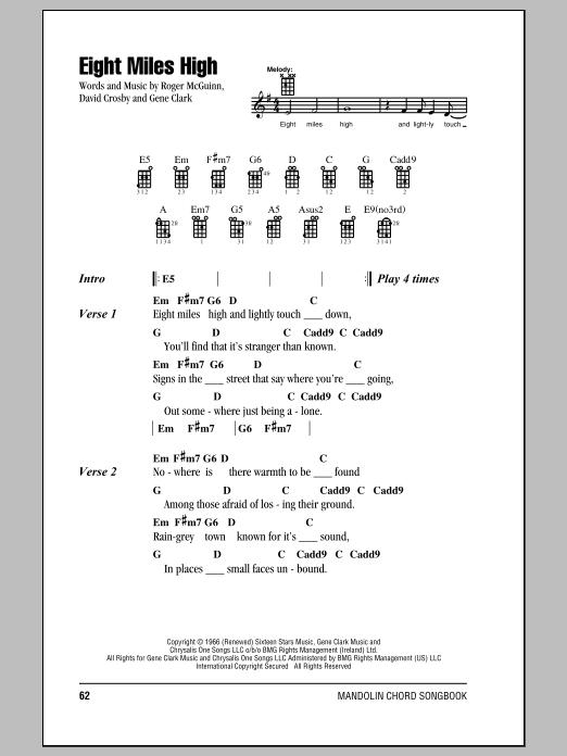 Partition piano Eight Miles High de The Byrds - Autre