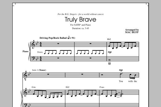 Partition chorale Brave (arr. Mac Huff) de Sara Bareilles - SATB