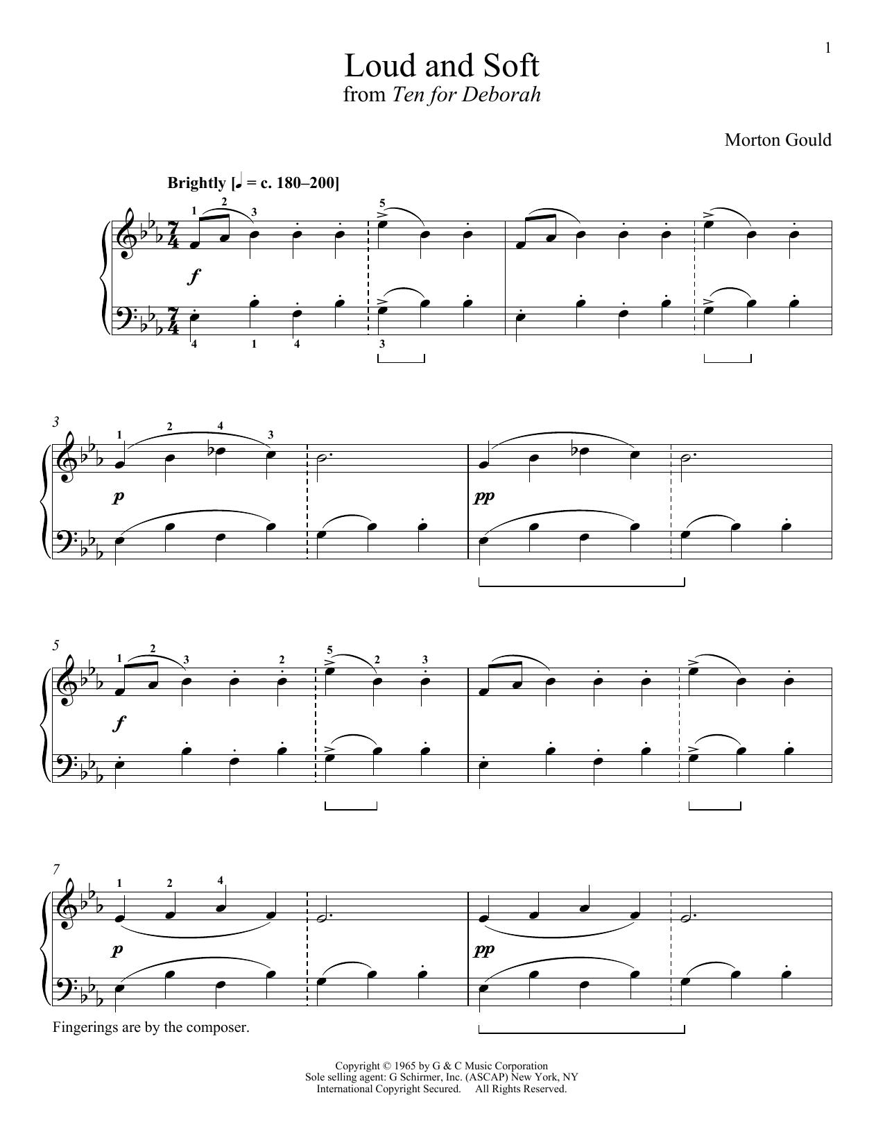 Partition piano Loud And Soft de Morton Gould - Piano Solo