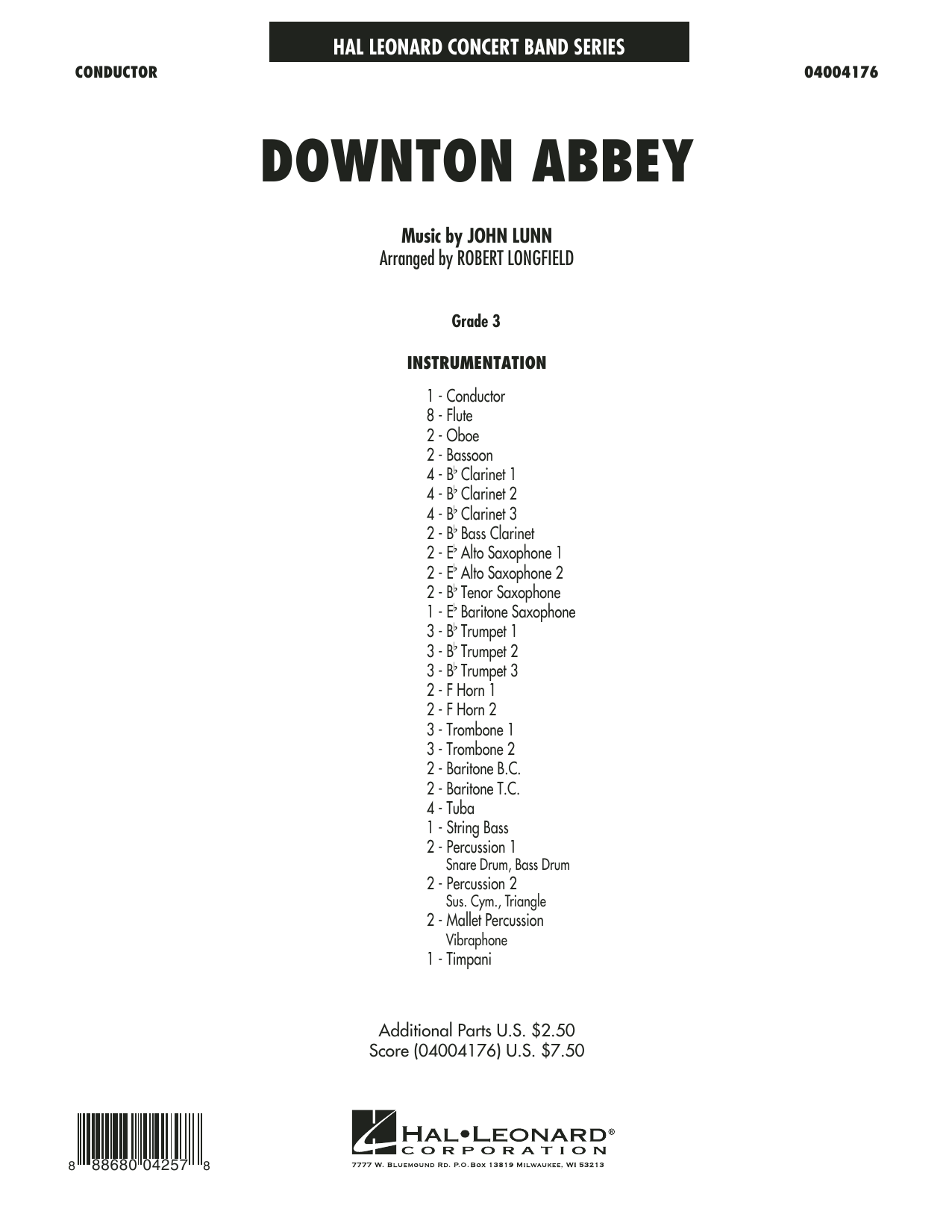 Downton Abbey (COMPLETE) sheet music for concert band by Robert Longfield