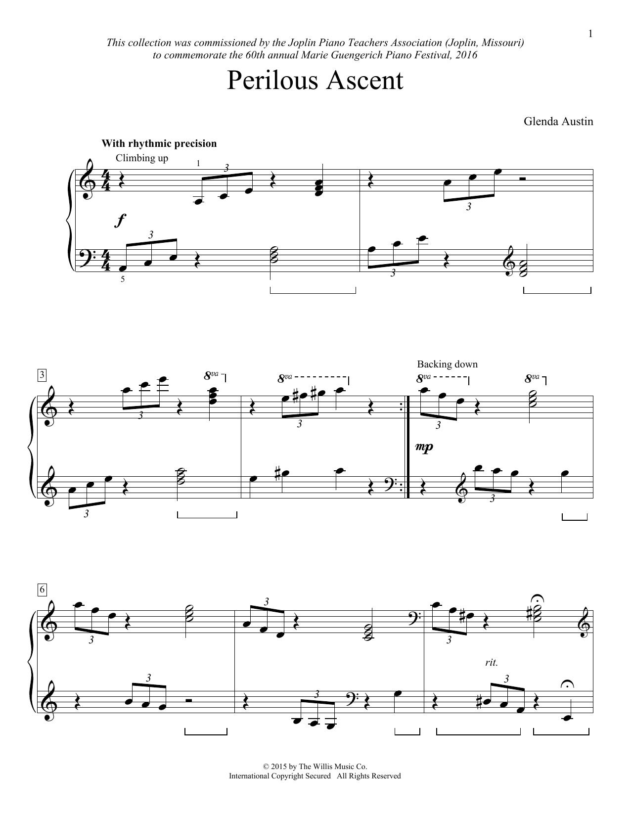 Partition piano Perilous Ascent de Glenda Austin - Piano Facile