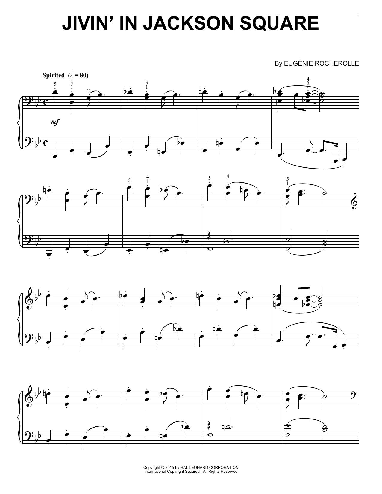 Partition piano Jivin' In Jackson Square de Eugenie Rocherolle - Piano Solo