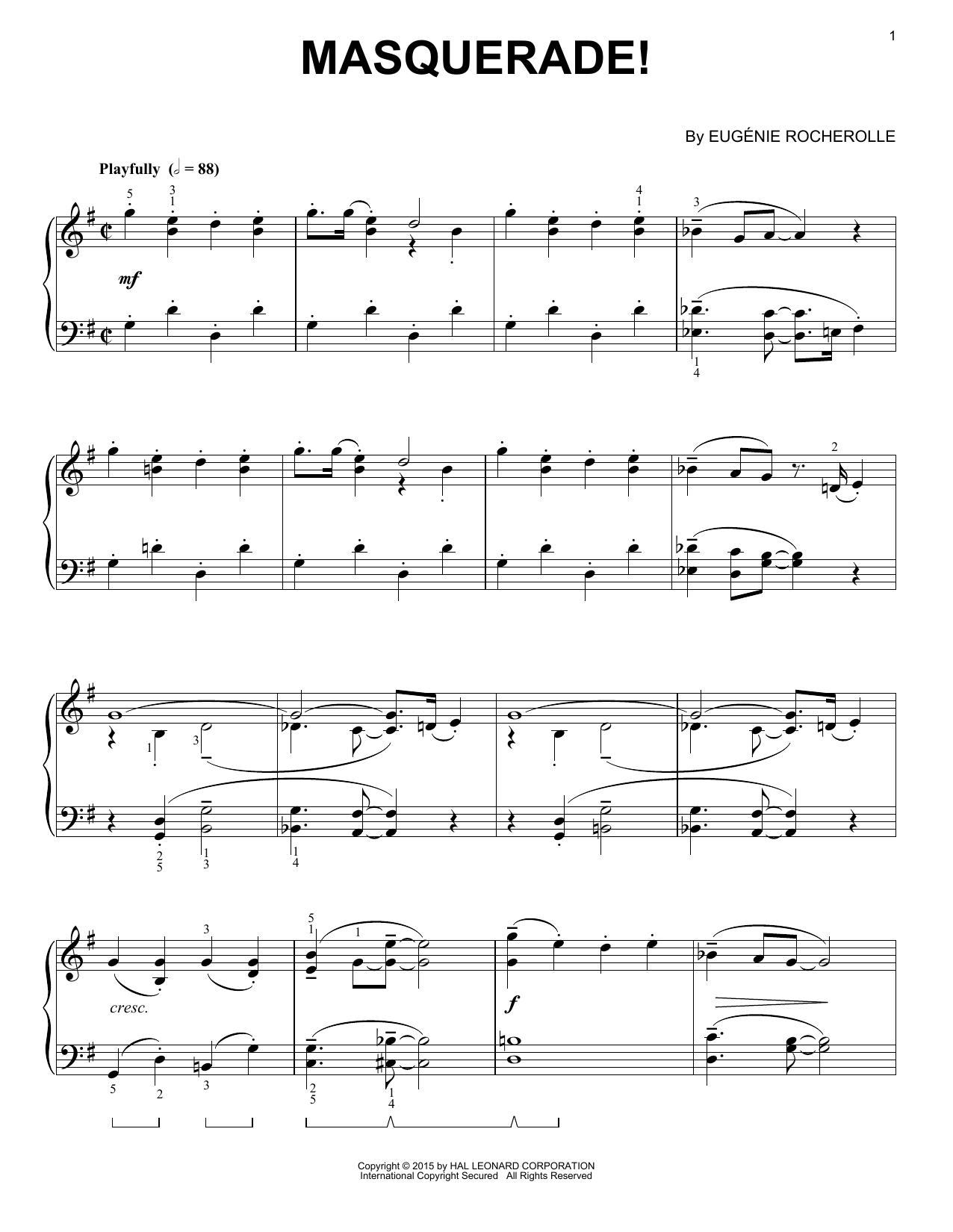 Partition piano Masquerade! de Eugenie Rocherolle - Piano Solo