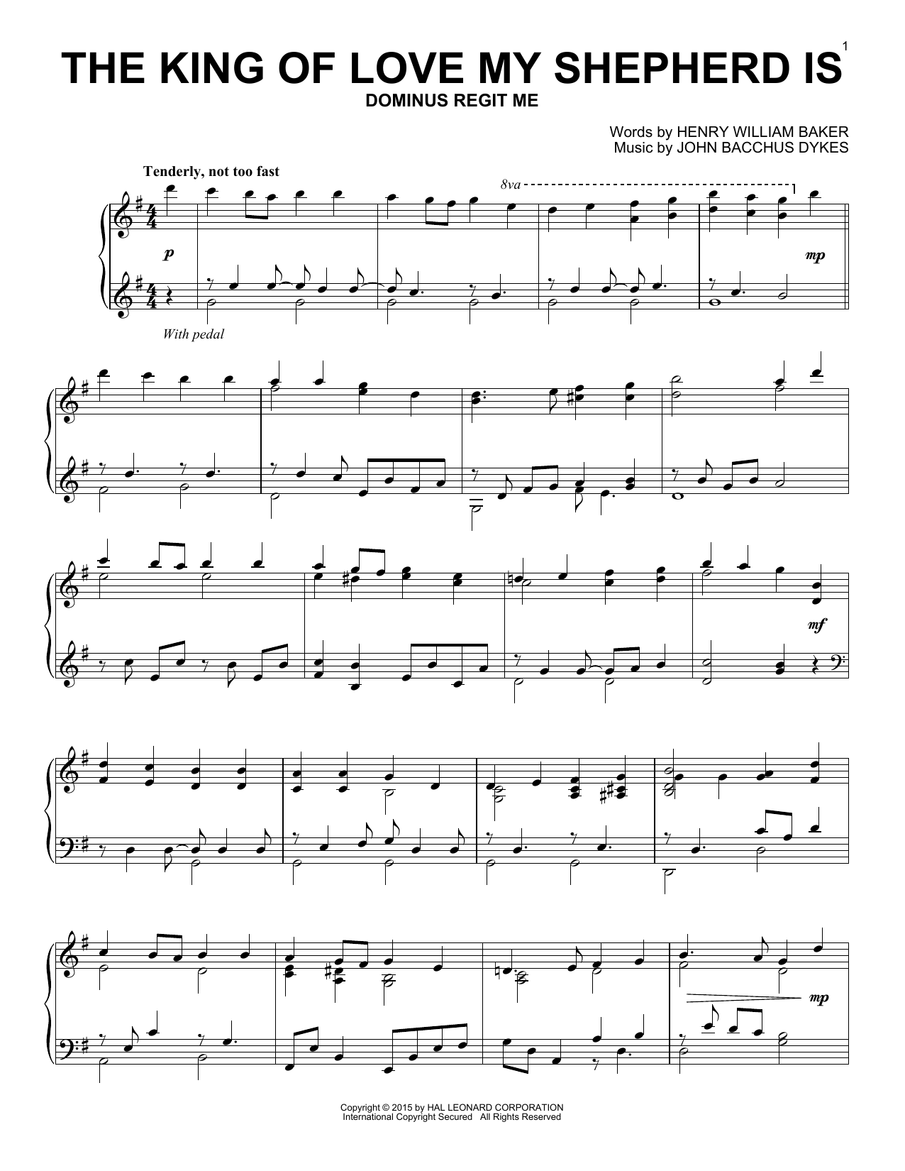 Partition piano The King Of Love My Shepherd Is de Traditional Hymn - Piano Solo
