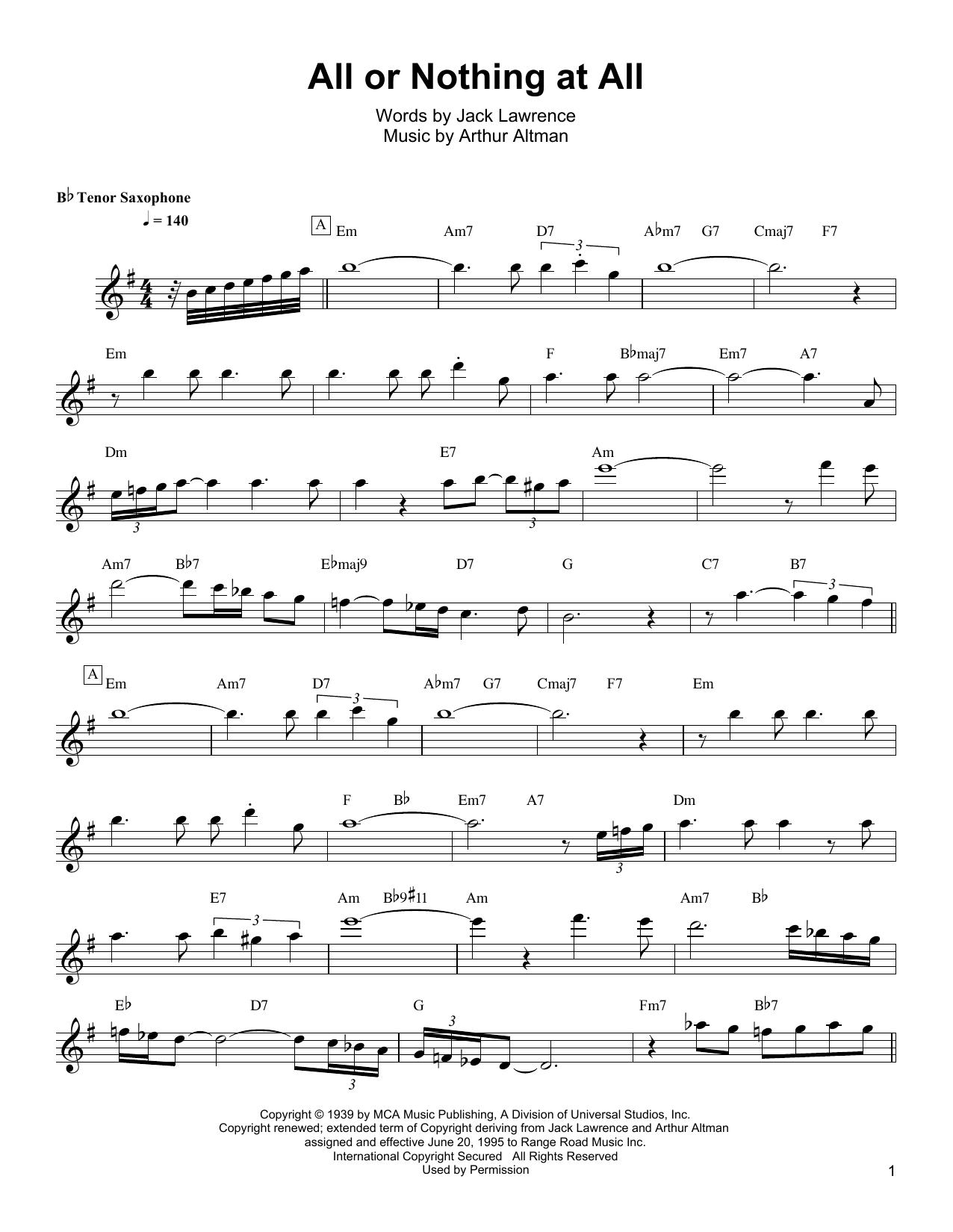 Partition autre All Or Nothing At All de Wayne Shorter - Autre