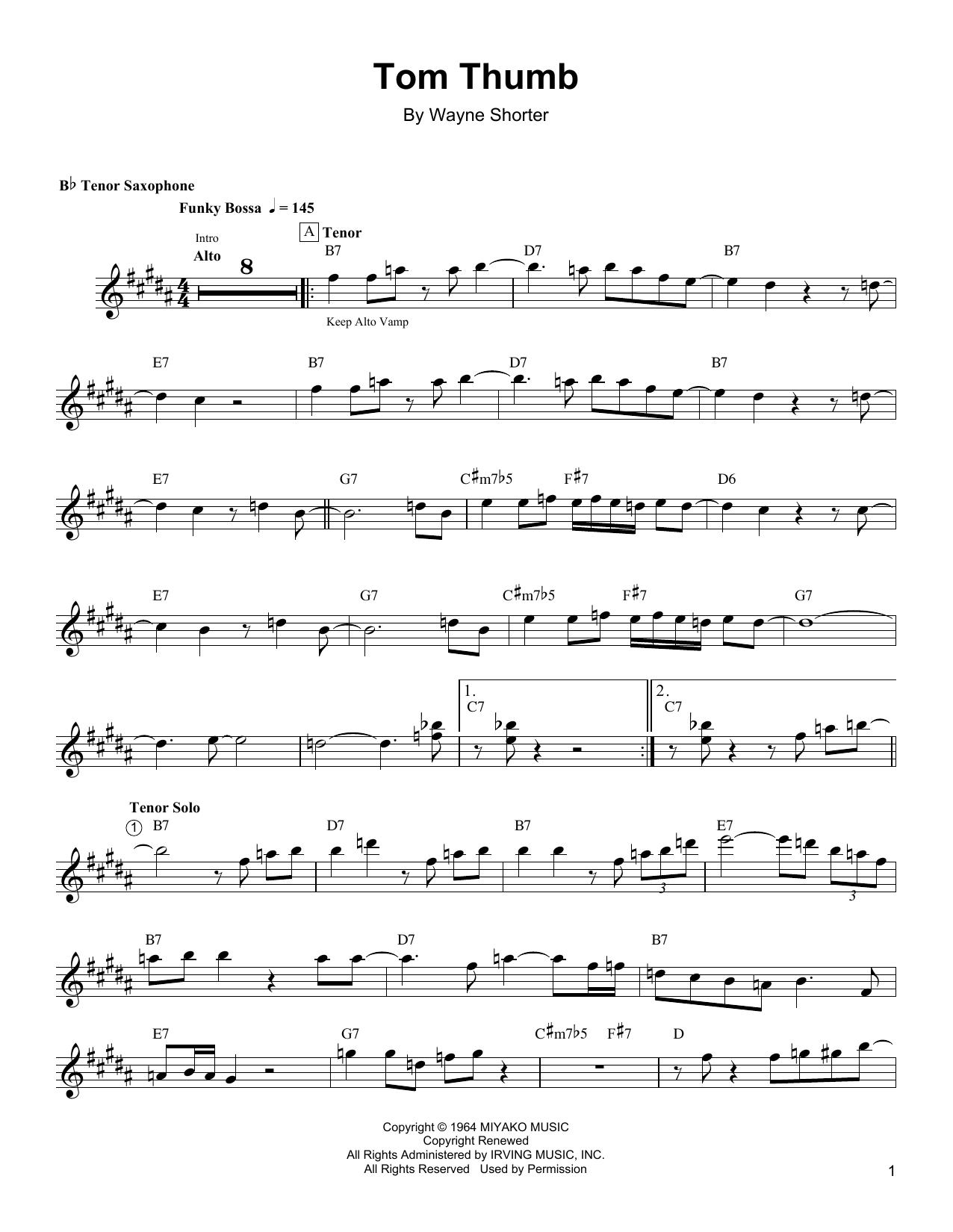 Partition autre Tom Thumb de Wayne Shorter - Autre