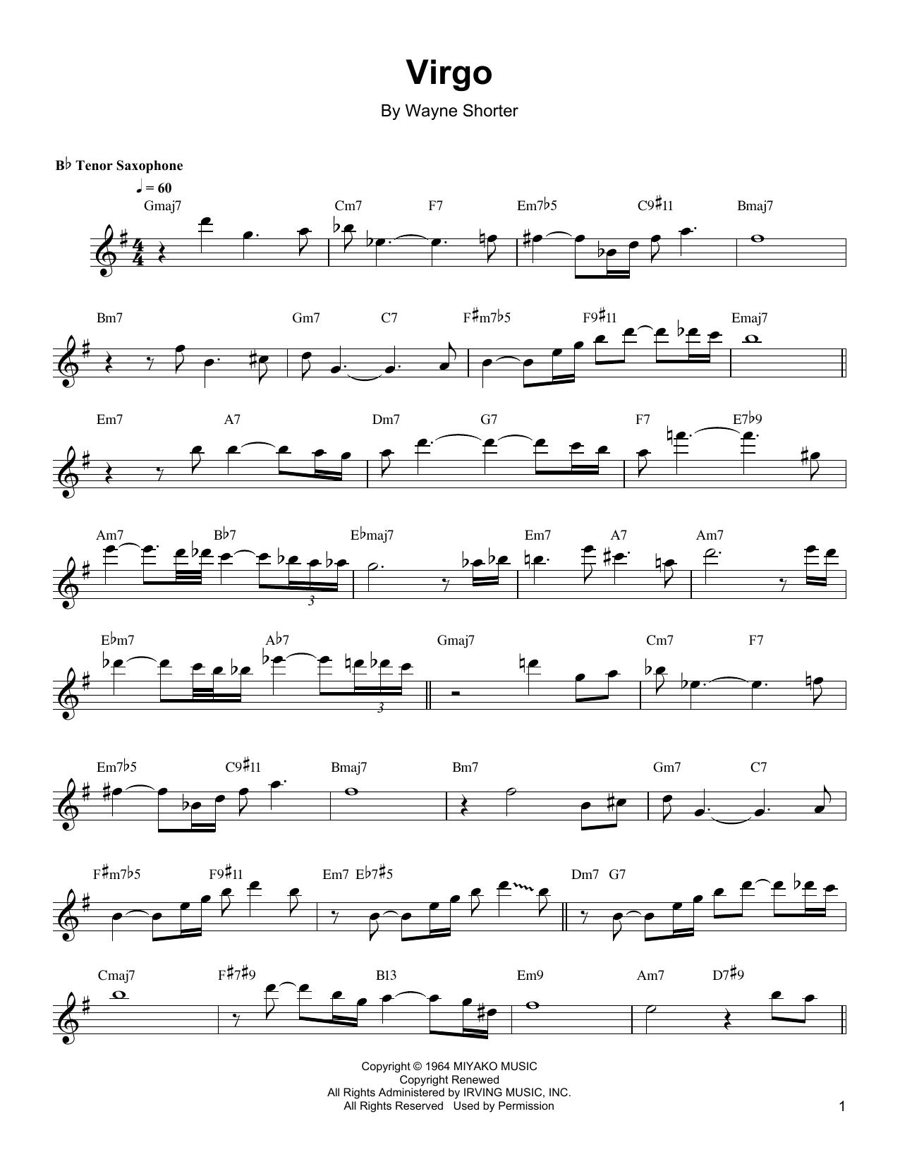 Partition autre Virgo de Wayne Shorter - Autre