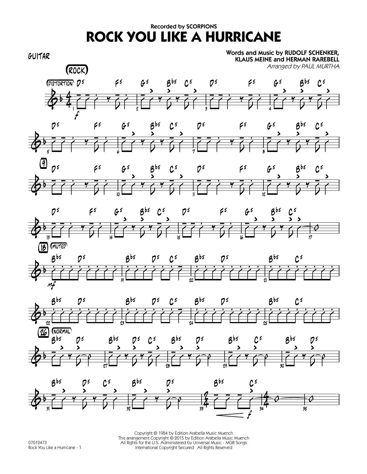 Sheet music digital files to print licensed klaus meine digital rock you like a hurricane guitar hexwebz Gallery
