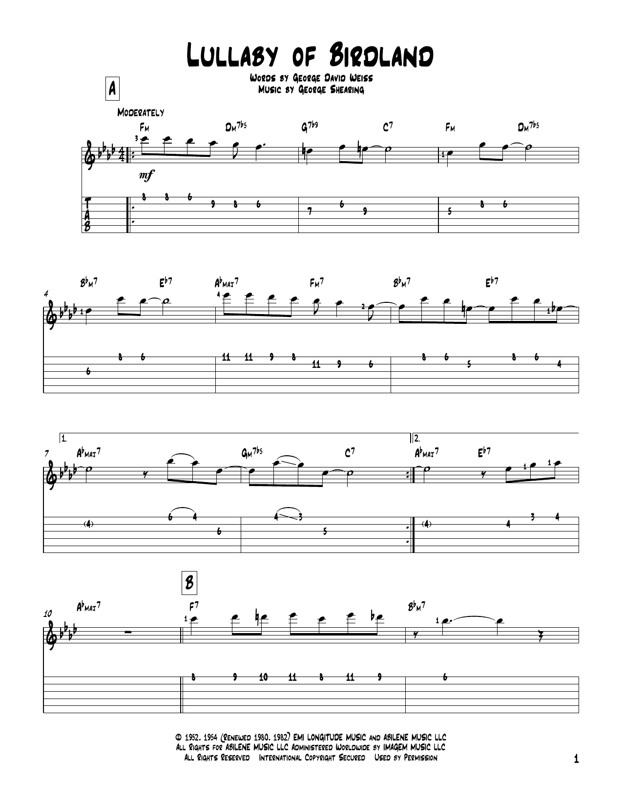 Guitar Solo Sheet Music at Stanton s Sheet Music