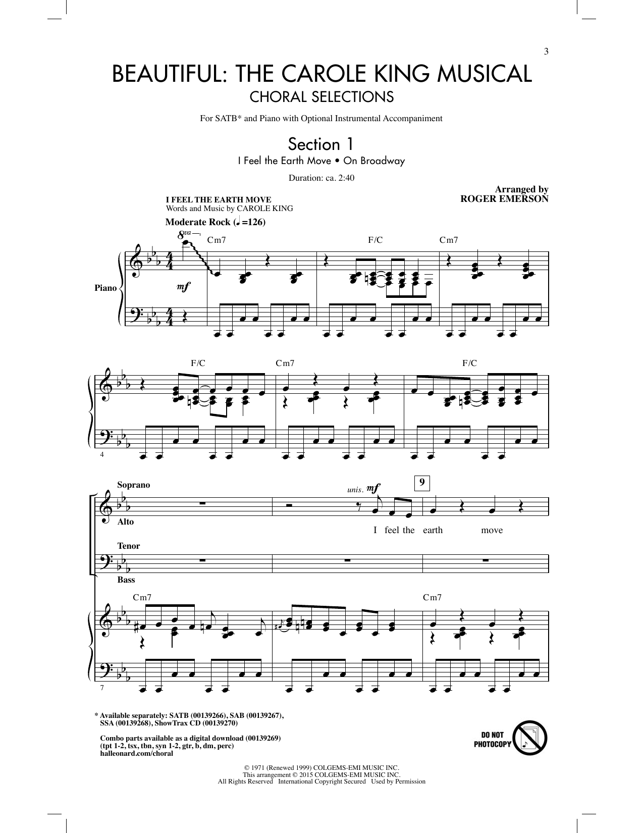 Partition chorale Beautiful - The Carole King Musical (Choral Selections) de Carole King - SATB