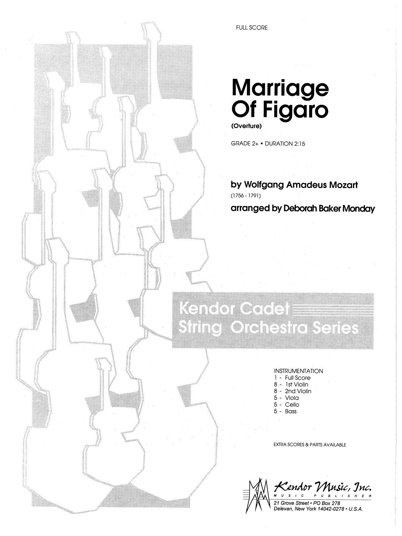 Marriage Of Figaro (Overture) (COMPLETE) sheet music for orchestra by Deborah Baker Monday