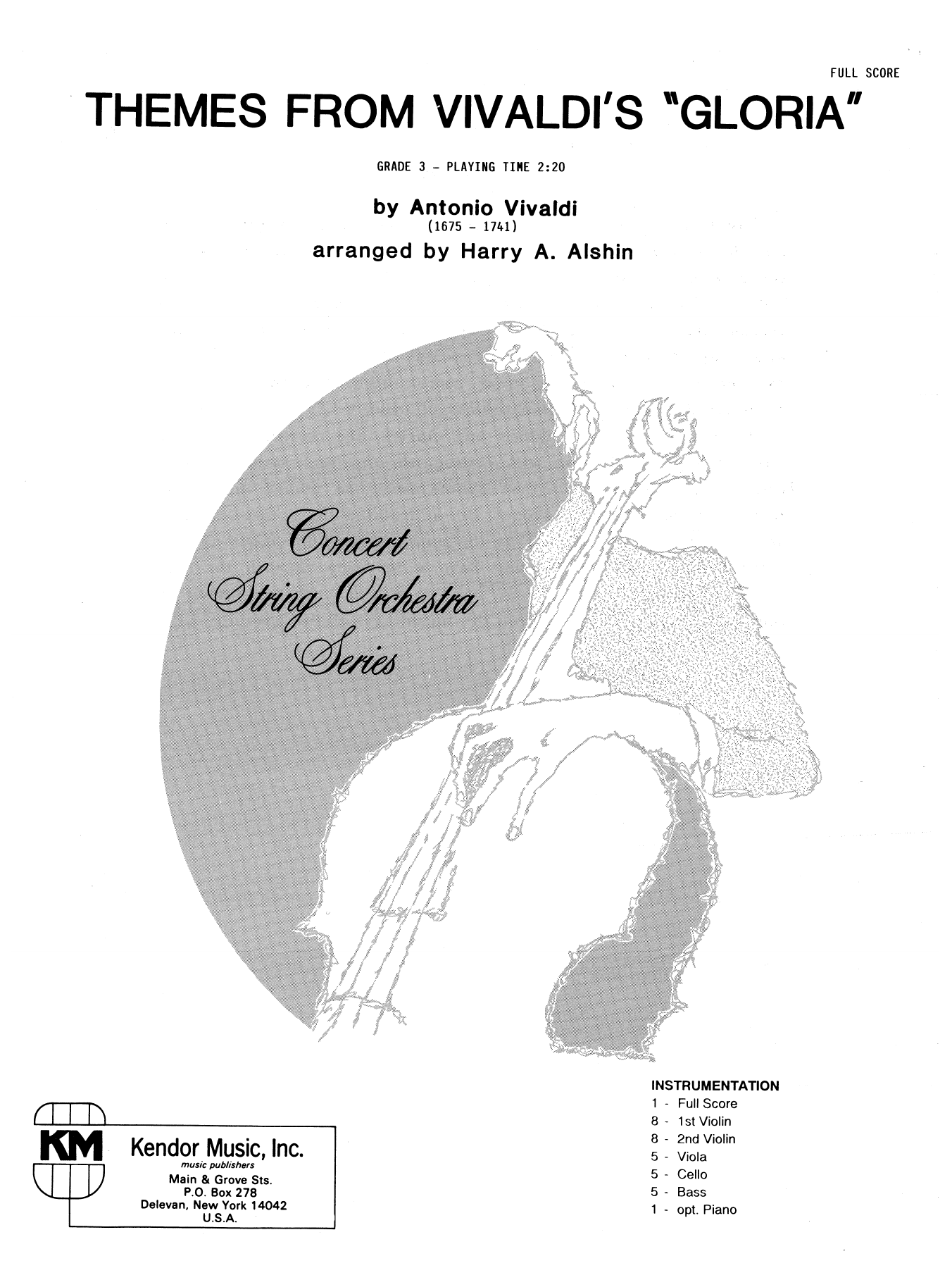 Themes From Vivaldi's Gloria (COMPLETE) sheet music for orchestra by Alshin
