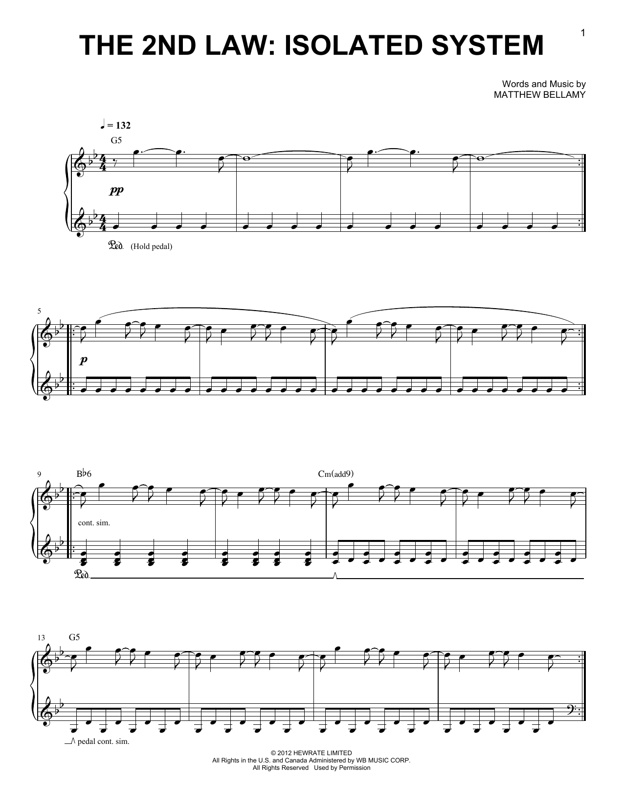 The 2nd Law: Isolated System | Sheet Music Direct