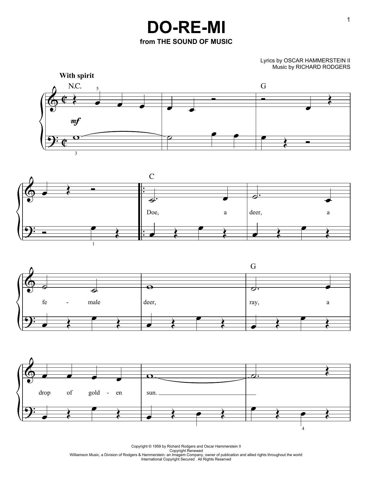 Partition piano Do-Re-Mi de Rodgers & Hammerstein - Piano Facile