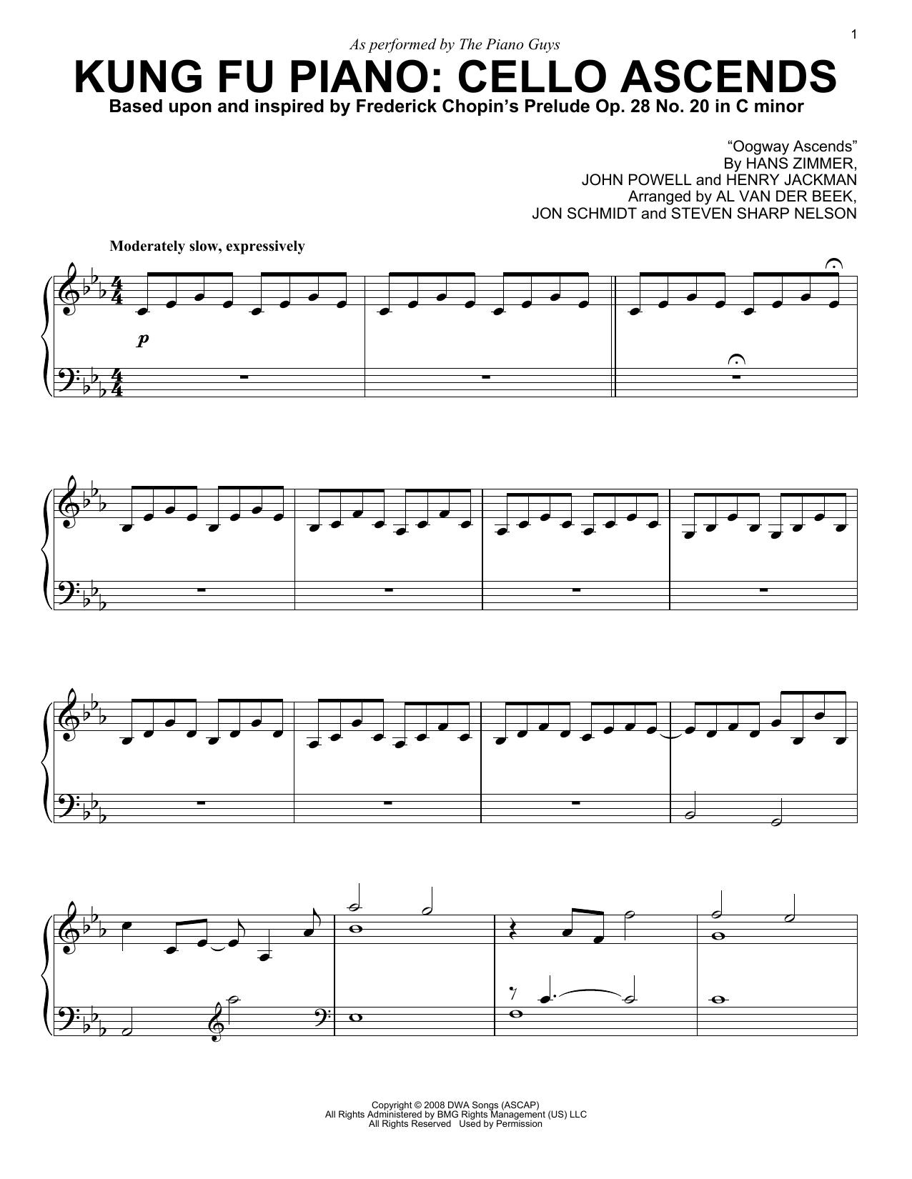 Partition piano Kung Fu Piano de The Piano Guys - Piano Solo