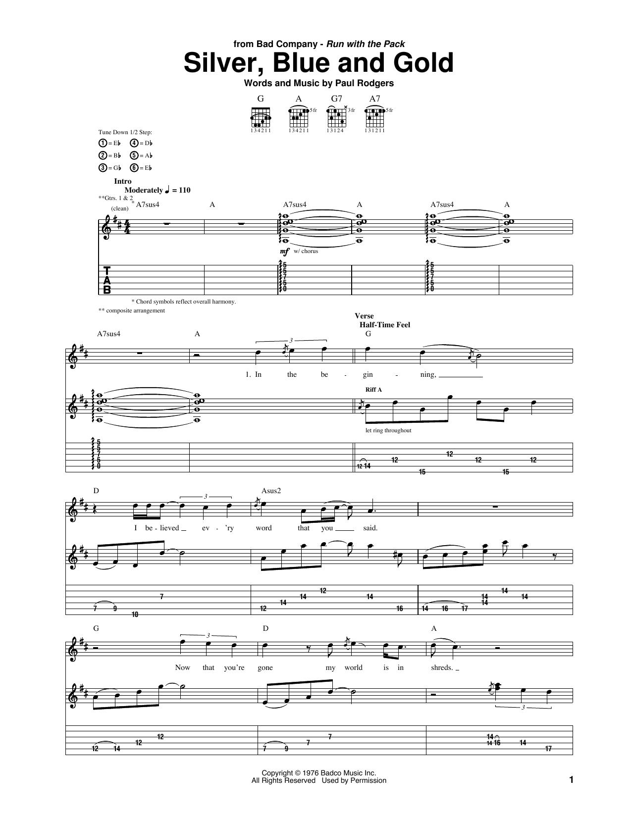 Bad company guitar chords