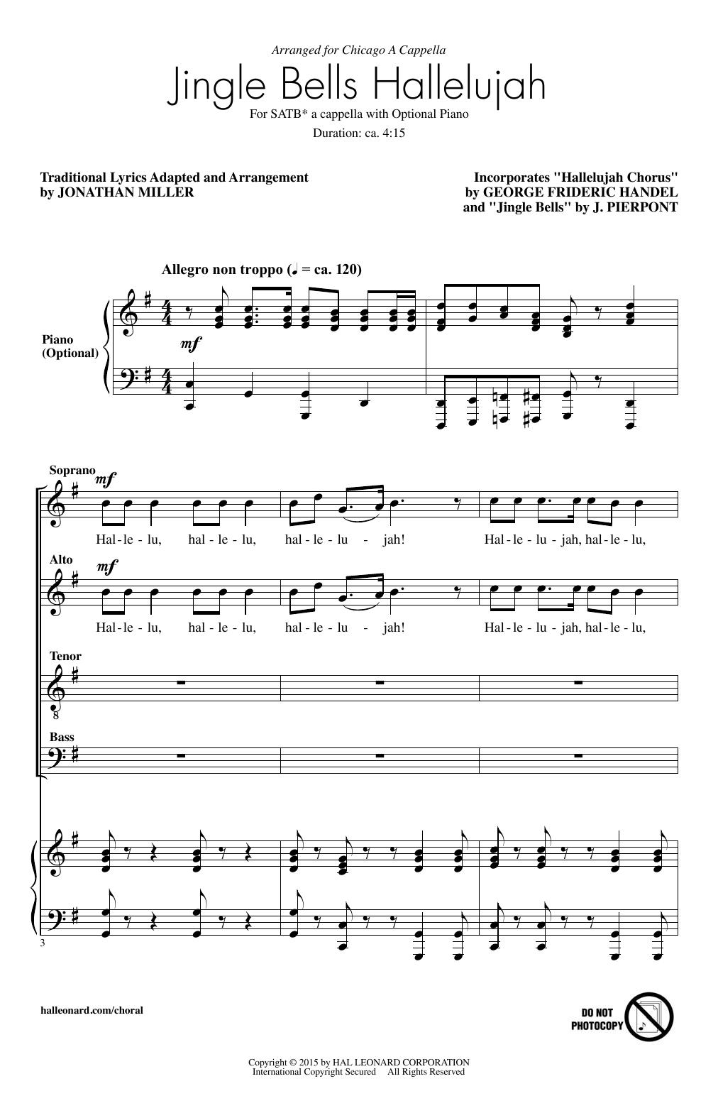 Partition chorale Jingle Bell Hallelujah de  - SATB