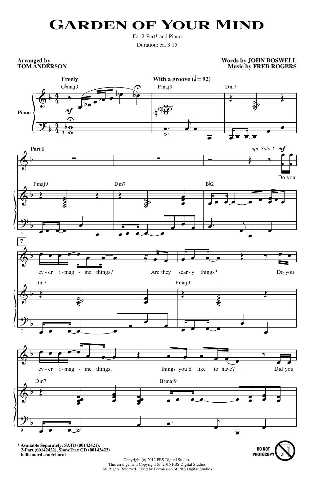 Partition chorale Garden Of Your Mind de  - 2 voix