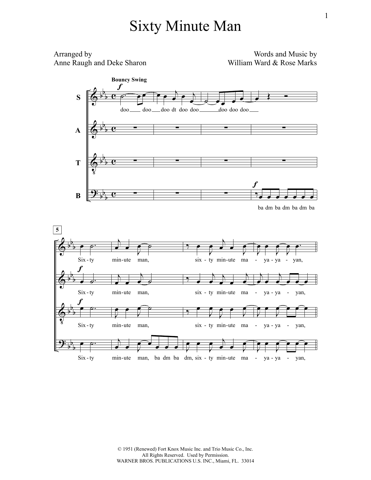 Print And Download Sixty Minute Man Sheet Music