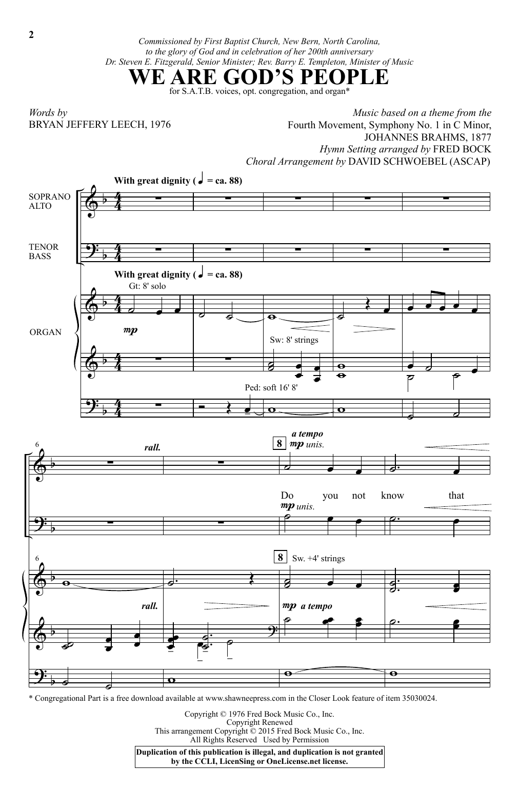 Partition chorale We Are God's People de Bryan Jeffrey Leech - SATB