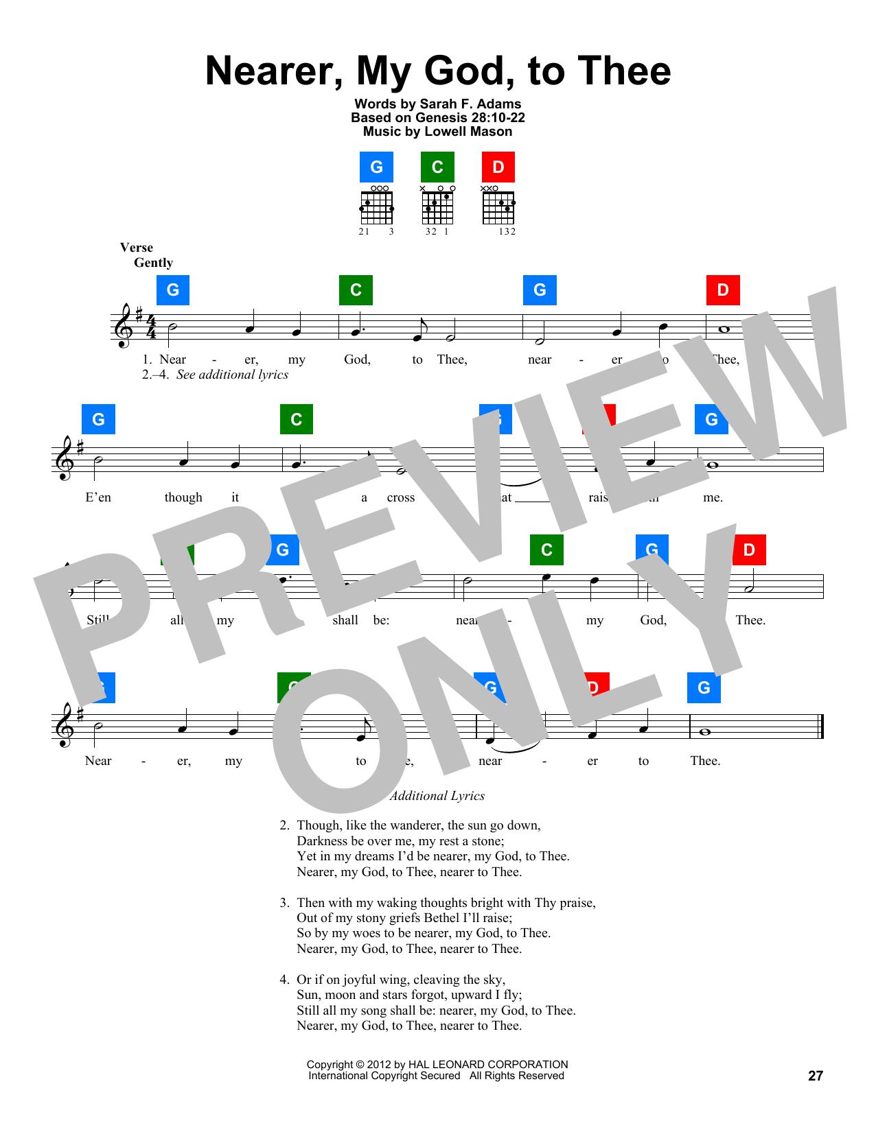 Partition autre Nearer, My God, To Thee de Lowell Mason - Autre