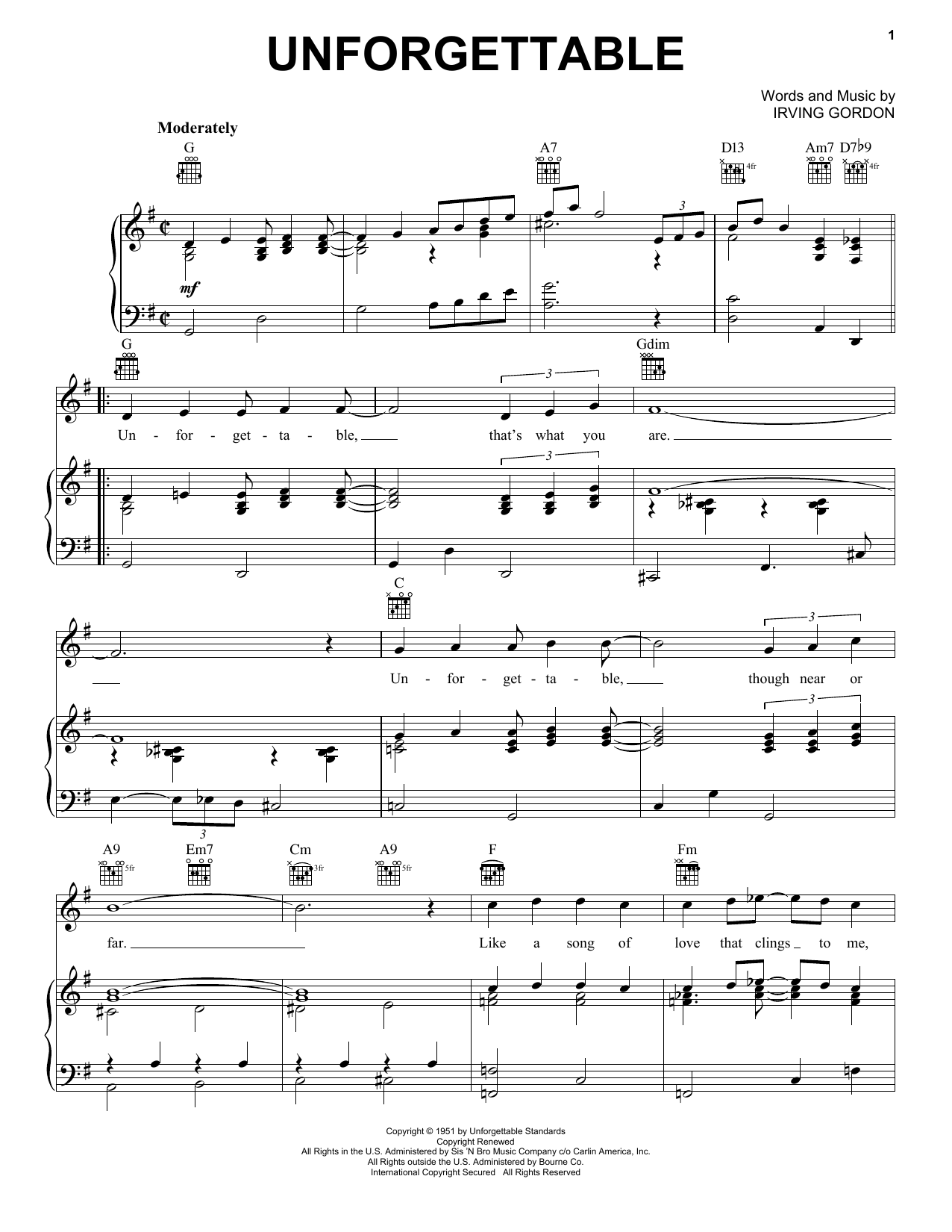 Irving Gordon - Search Results | Sheet Music Direct