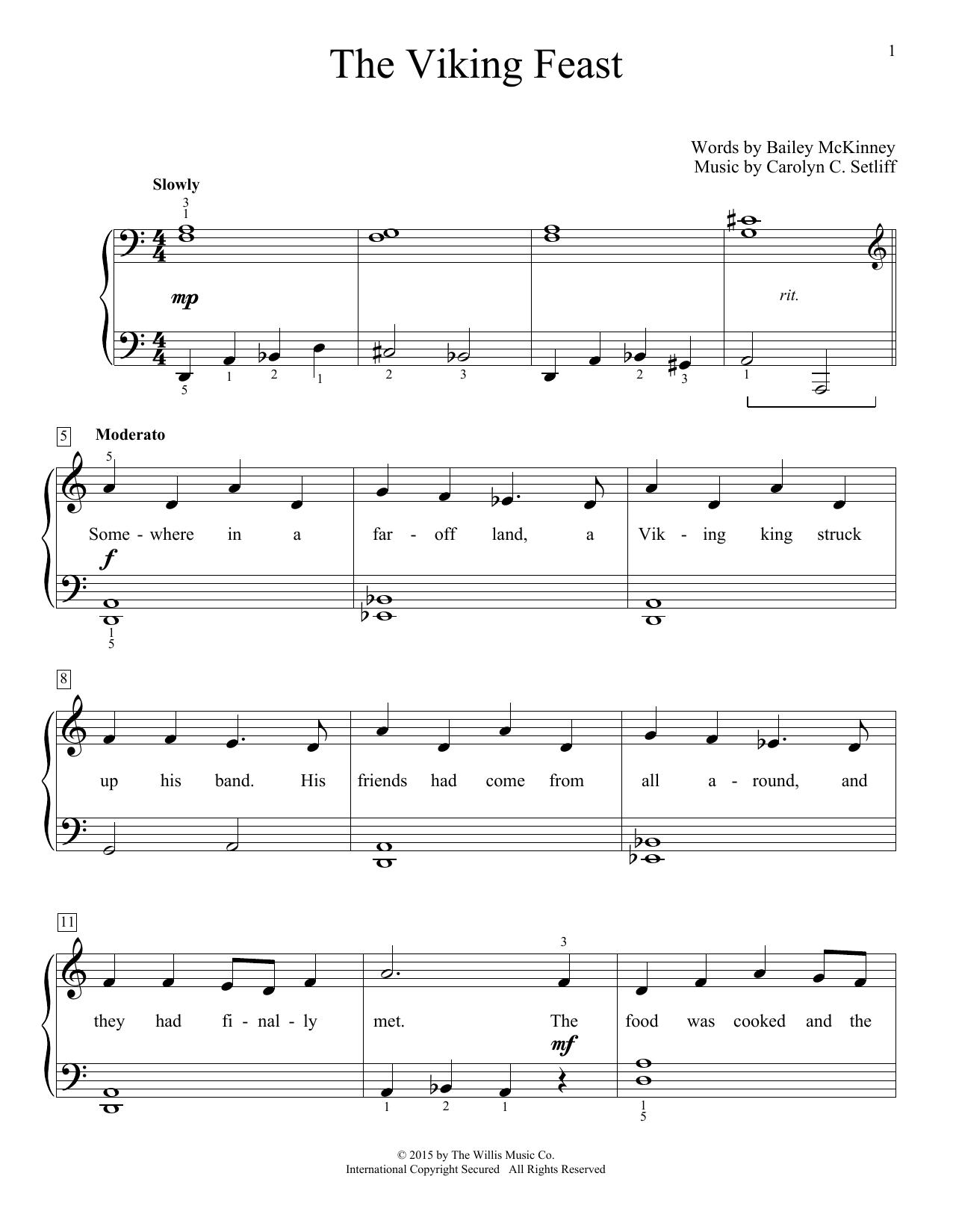 Partition piano The Viking Feast de Carolyn C. Setliff - Piano Facile
